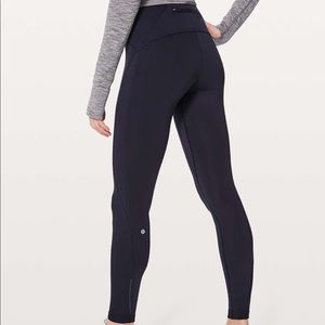 Lululemon black fast as fleece tights 6
